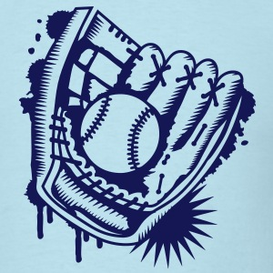 A baseball glove with a baseball T-Shirts - Men's T-Shirt