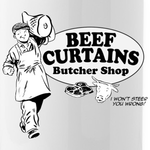Beef Curtains Butcher Shop - Water Bottle