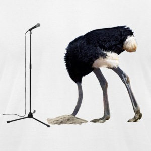 Bashful Ostrich on the Microphone T-Shirts - Men's T-Shirt by American Apparel