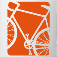 Design ~ Bike Bicycling Biking Mug Orange