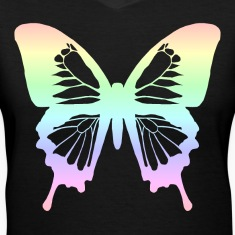 Butterfly - Pastel Rainbow Women's T-Shirts