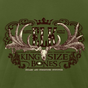 elk_king_size_bones T-Shirts - Men's T-Shirt by American Apparel
