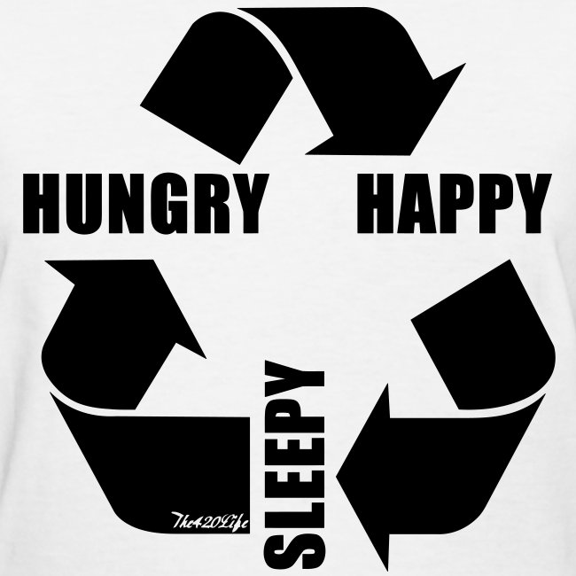 """Hungry, Happy, Sleepy Cycle"" T-Shirt Women"