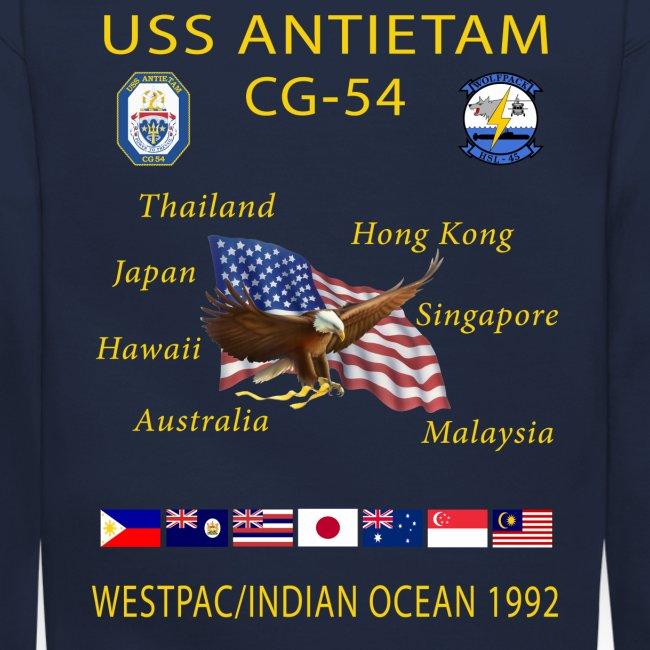 USS ANTIETAM CG-54 1992 CRUISE SWEATSHIRT