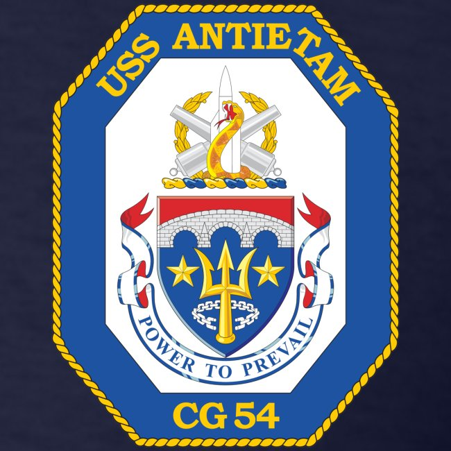 USS ANTIETAM CG-54 1992 CRUISE SHIRT - FAMILY
