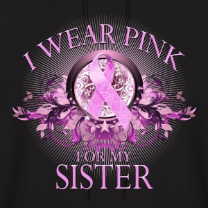 I Wear Pink for my Sister (floral) Hoodies - Men's Hoodie