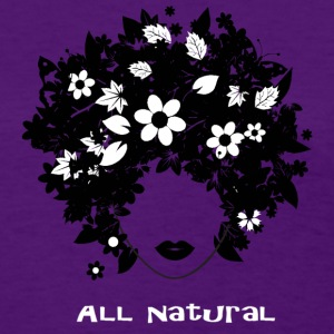 """All Natural"" Hair T-Shirt (White lettering) Women's T-Shirts - Women's T-Shirt"