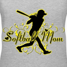 Softball Mom (silhouette) Women's T-Shirts
