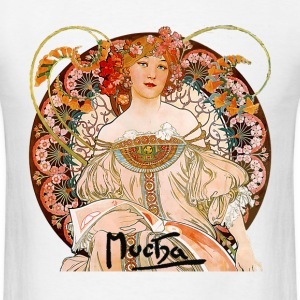 Mucha – Flower Girl - Men's T-Shirt