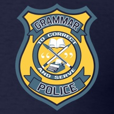 Grammar Police Badge T-Shirts