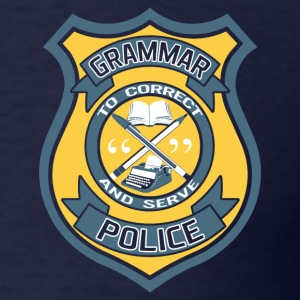 Grammar Police Badge T-Shirts - Men's T-Shirt