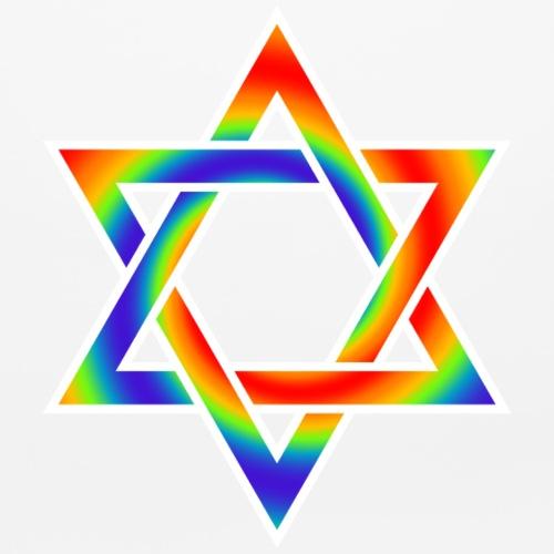 RAINBOW STAR OF DAVID JEWISH  SYMBOL