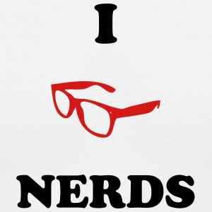 I Love Nerds - Women's V-Neck T-Shirt