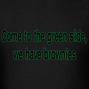 The Green Side (Black) - Men's T-Shirt