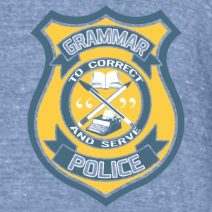 Grammar Police Badge T-Shirts - Unisex Tri-Blend T-Shirt by American Apparel