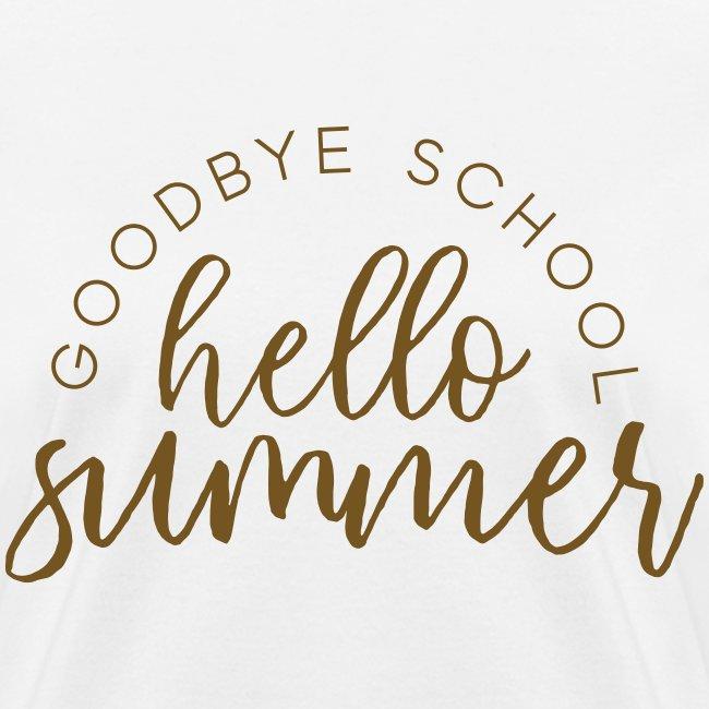 Goodbye School Hello Summer | Gold Glitz