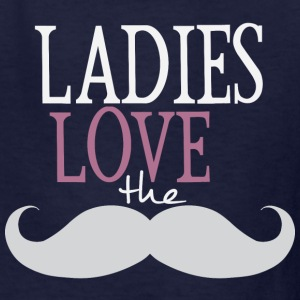 Ladies Love The Moustache Kids' Shirts - Kids' T-Shirt