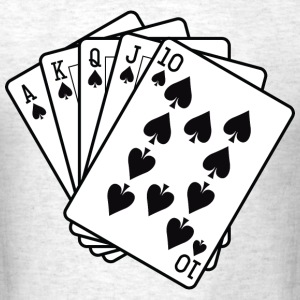 Royal Flush T-Shirts - Men's T-Shirt