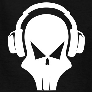 Skull with Headphones Kids' Shirts - Kids' T-Shirt