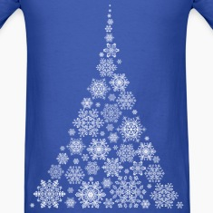 Snowflake Christmas Tree T-Shirts