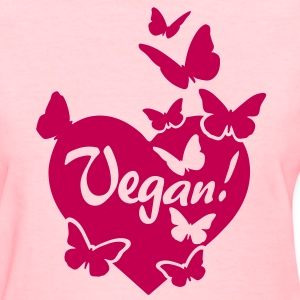 VEGAN HEART LOVE Women's T-Shirts - Women's T-Shirt