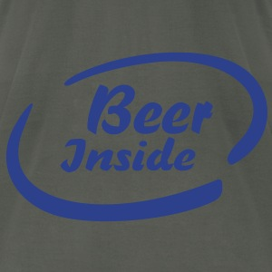 Beer Inside T-Shirts - Men's T-Shirt by American Apparel