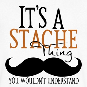 A Stache Thing T-Shirts - Men's V-Neck T-Shirt by Canvas