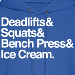 Men's Hoodie - Deadlifts & Squats & Bench Press &  - Men's Hoodie