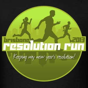 Brisbane Resolution Run 2013 - Men's T-Shirt