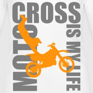 motocross is my life Long Sleeve Shirts - Women's Long Sleeve Jersey T-Shirt