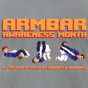 Armbar Awareness Month retro BJJ t-shirt - Men's T-Shirt by American Apparel