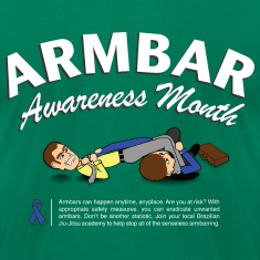 Armbar Awareness Month funny BJJ t-shirt