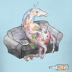 drunk unicorn T-Shirts