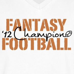 2012 fantasy football champion T-Shirts - Men's V-Neck T-Shirt by Canvas