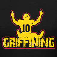 Design ~ Women's Griffining Shirt on Black V-Neck