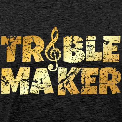 Treble Maker Funny Musician (Distressed Gold)