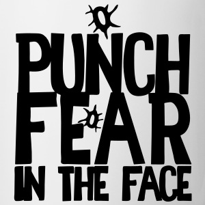 PUNCH FEAR IN THE FACE sport rivalry bullet holes Bottles & Mugs - Coffee/Tea Mug