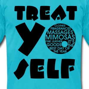 Treat Yo Self - Blue - Men's T-Shirt by American Apparel