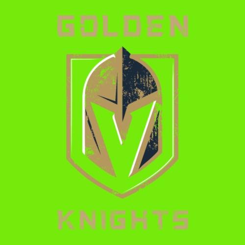 A Golden Vegas Sports Shirt Knight Emblem