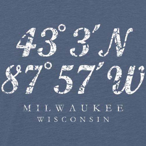 Milwaukee, Wisconsin Coordinates (Ancient White)