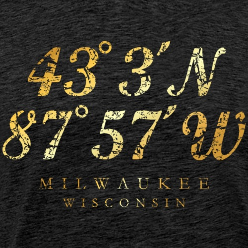 Milwaukee, Wisconsin Coordinates (Ancient Gold)