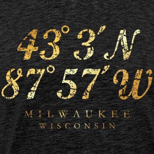 Milwaukee, Wisconsin Coordinates (Ancient Gold)