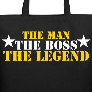 THE MAN, THE BOSS, THE LEGEND! Bags & backpacks - Eco-Friendly Cotton Tote