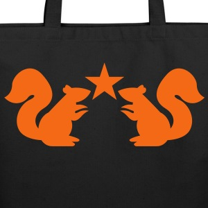 squirrels emblem cute with star rampant Bags & backpacks - Eco-Friendly Cotton Tote