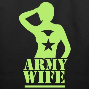 Sexy lady ARMY wife saluting Bags & backpacks - Eco-Friendly Cotton Tote