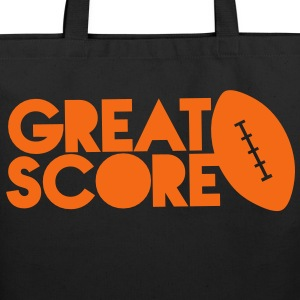 great score! Rugby AFL long ball Bags & backpacks - Eco-Friendly Cotton Tote
