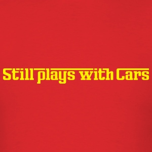 Still plays with cars red t-shirt - Men's T-Shirt
