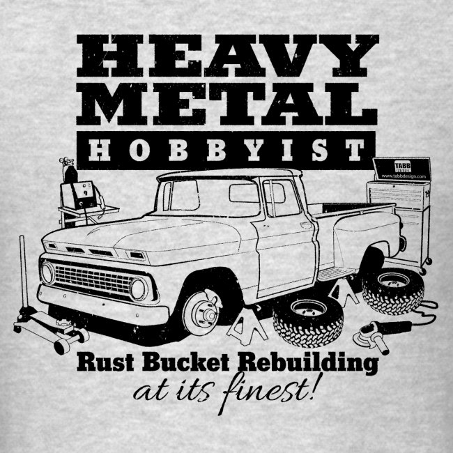 Heavy Metal Hobbyist Tee Black Graphic