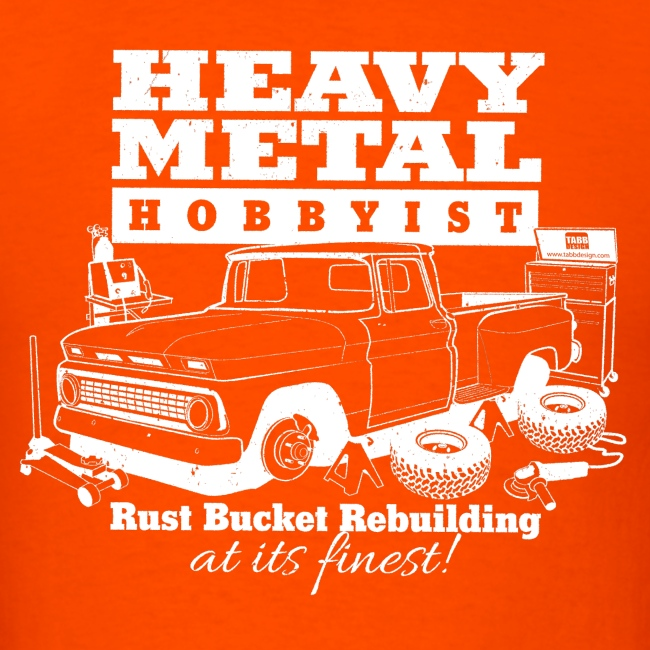 Heavy Metal Hobbyist Tee White Graphic