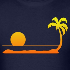 Tropical Sunset T-Shirts - Men's T-Shirt